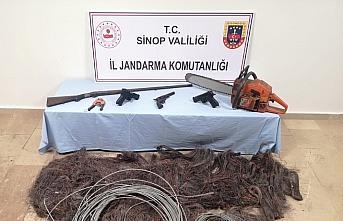 Sinop'ta kablo hırsızlığı operasyonu: 3 gözaltı