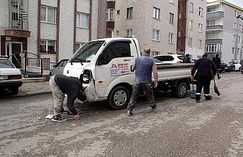 Sinop'ta kamyonetle çarpışan motosikletin sürücüsü öldü