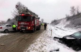 Sinop'ta trafik kazaları: 6 yaralı