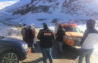 Soğanlı Dağları'nda mahsur kalan Katarlı turistler...