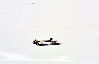 Tokat'ta soğuk hava göletleri dondurdu