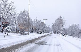 Tosya'ya mevsimin ilk karı yağdı