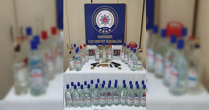 Trabzon'da sahte içki operasyonunda 1 şüpheli yakalandı