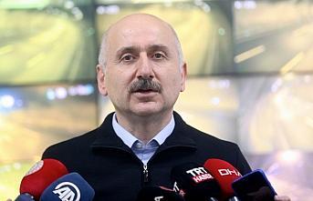 Ulaştırma ve Altyapı Bakanı Karaismailoğlu, Bolu...