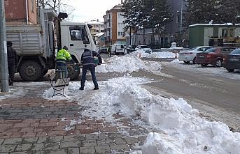 Yeniçağa'da karla mücadele çalışmaları