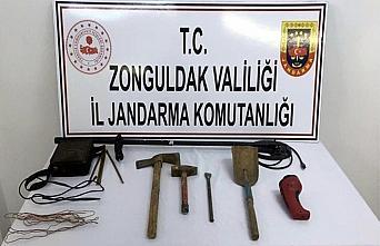 Zonguldak'ta kaçak kazı yapan şüpheli yakalandı