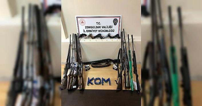 Zonguldak'ta silah ticareti yaptığı iddiasıyla...