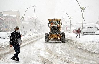 Zonguldak'ta yoğun kar