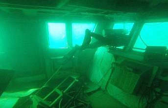 Bartın'da batan yük gemisi su altı kamerasıyla...