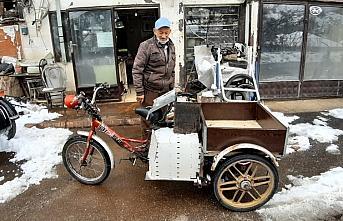 Bolulu motor ustası üç tekerlekli bisiklete motor...