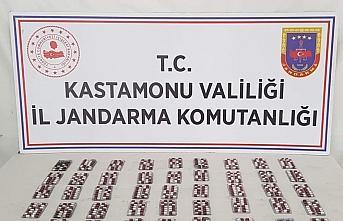 Kastamonu'da 599 uyuşturucu hapın ele geçirildiği...