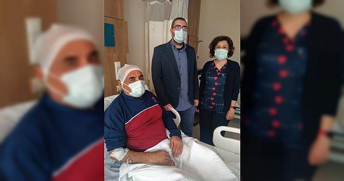Kastamonu'da beyinciğinden portakal büyüklüğünde tümör çıkarılan hasta sağlığına kavuştu