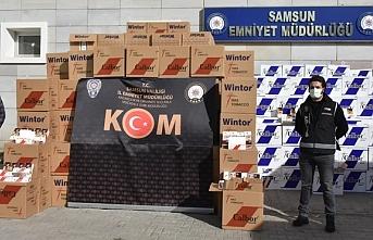 Samsun'da şimdiye kadar yapılan en büyük kaçak sigara operasyonu