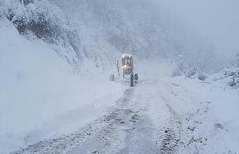 Terme Belediyesi ekipleri karla mücadele çalışmalarını sürdürüyor