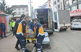 Akçakoca'da merdivenden düşen vatandaş yaralandı
