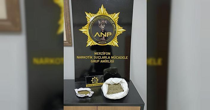 Amasya'da yolcu otobüsünde sentetik uyuşturucuyla yakalanan zanlı gözaltına alındı