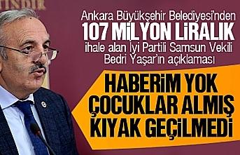 Bedri Yaşar, 107 Milyon liralık ihale için 'Haberim yok, çocuklar ihaleyi almış' dedi