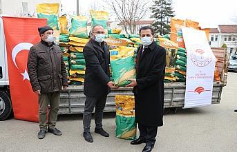 Bolu'da çiftçiye dane mısır tohum desteği yapıldı