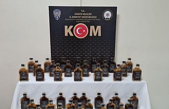 Düzce'de 39 şişe kaçak ve sahte içki ele geçirildi