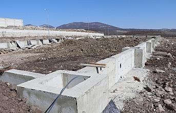 Havza OSB'de palet ve konteyner üretecek fabrikanın temel çalışmaları tamamlandı