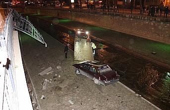 Kastamonu'da dereye düşen otomobilin sürücüsü yaralandı
