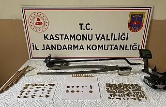 Kastamonu'da tarihi eserlerle yakalanan kişi gözaltına alındı