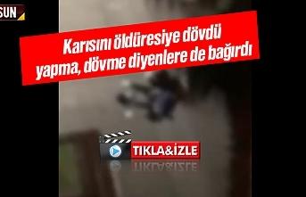 Samsun Canik ilçesinde karısını öldüresiye döven koca videosu