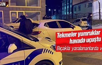 Samsun'da iki grup tekmeli yumruklu birbirine girdi