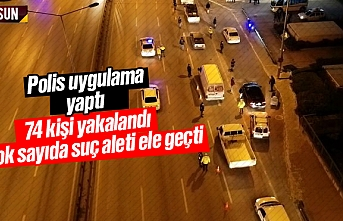 Samsun'da 74 kişi yakalandı