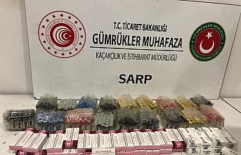 Sarp Sınır Kapısı'nda gümrük kaçağı 498 kutu...