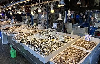 Trabzon'da balıkçı tezgahlarında hamsinin yerini diğer çeşitler aldı