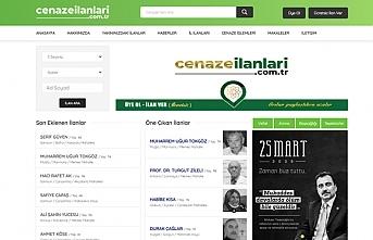 Türkiye'nin ilk cenaze ilanı web sitesi Cenaze İlanları yayın hayatına başladı