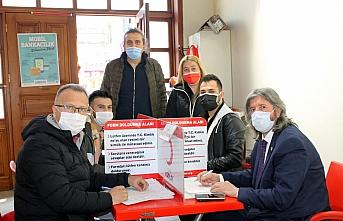 Zonguldak'ta basın mensupları kan bağışı kampanyası...