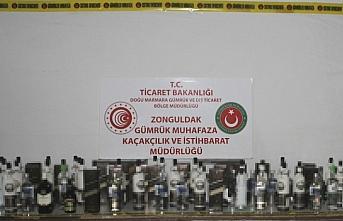 Bartın'da yabancı bandıralı gemide 88 şişe bandrolsüz alkollü içki ele geçirildi