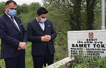 Başkan Halil Akgül'den şehit mezarı ziyareti