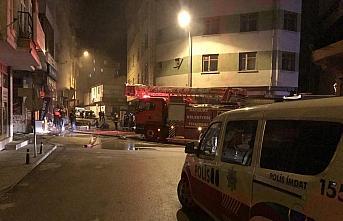 Bayburt'ta ikinci el eşya dükkanında çıkan yangın söndürüldü