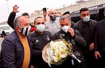 Beşiktaş kafilesi, Trabzon'a geldi