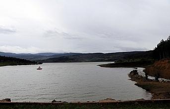 Bolu'daki Gölköy Barajı'nda su seviyesi yüzde...
