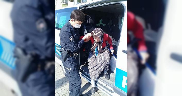 Düzce'de kaybolan yaşlı kadın polis ekiplerince...