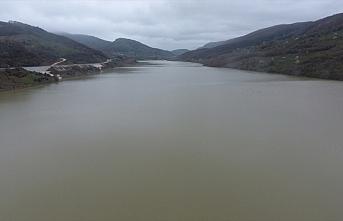 Düzce'deki Hasanlar Barajı'nda su seviyesi tam kapasiteye...
