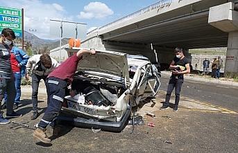 Gümüşhane'deki trafik kazasında bir kişi yaralandı