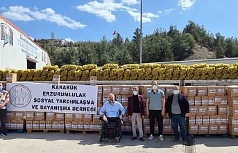 Karabük Erzurumlular Derneği, ihtiyaç sahiplerine...