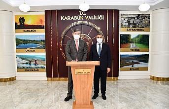Kazakistan Büyükelçisi Saparbekuly, Vali Gürel'i ziyaret etti