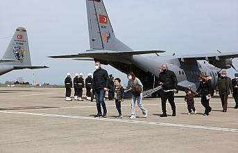 Konya'da Türk Yıldızları uçağının düşmesi sonucu şehit olan pilot Yüzbaşı Gençcelep'in naaşı Trabzon'a getirildi