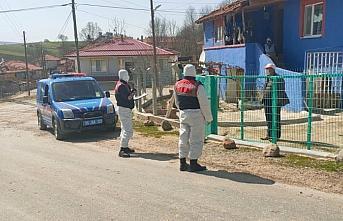 Ladik'te jandarma, Kovid-19 denetimlerini sürdürüyor