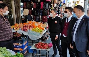 Salıpazarı Belediye Başkanı Halil Akgül, pazaryerlerini ve esnafı ziyaret etti
