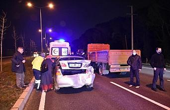 Samsun'da 3 aracın karıştığı trafik kazasında...