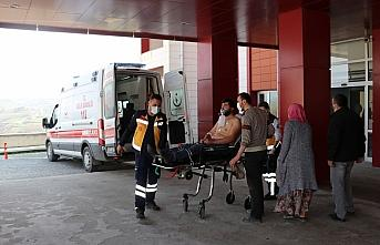 Samsun'da av tüfeğiyle yaralanan kişi hastaneye...