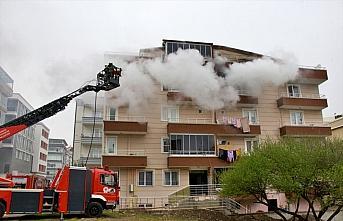 Samsun'da bir evde çıkan yangın itfaiye ekiplerince söndürüldü