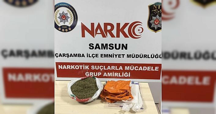 Samsun'da düzenlenen uyuşturucu operasyonunda 2...